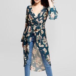 Xhilaration floral kimono dress